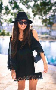 μαύρο φόρεμα παραλίας