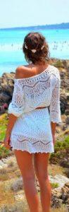 μίνι άσπρο φόρεμα