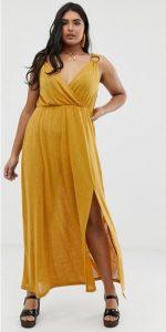 μουσταρδί καλοκαιρινό φόρεμα Assos