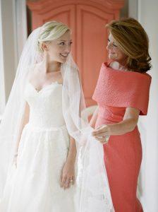 κοραλι κομψο φορεμα για μητερα