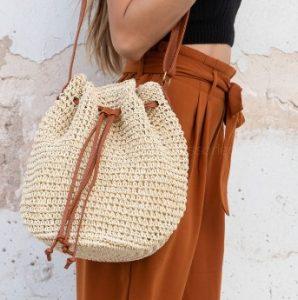 ψάθινη τσάντα ώμου, ediva.gr