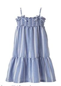 φορεματακι παιδικο γαλαζιο ριγε