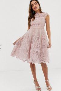 κουφετί φόρεμα μίντι