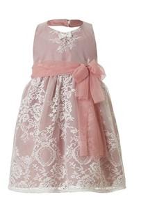 ροζ φορεμα δαντελα παιδικο
