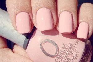 τετράγωνο ροζ μανικιούρ