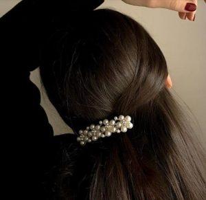 τσιμπιδάκι μαλλιών με πέρλες