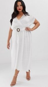 άσπρο αέρινο φόρεμα καμπύλες ediva.gr