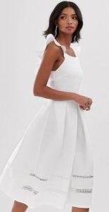λευκό αμάνικο γυναικείο φόρεμα