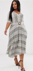 ασπρόμαυρο animal print αέρινο φόρεμα