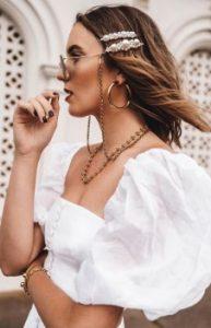 κλιπ μαλλιών πέρλες τσιμπιδάκια γάμος καλοκαίρι χτένισμα