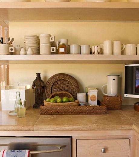 καλάθια δίσκος ψάθινο μήλα αποθήκευση εξοικονομήσεις χώρο μικρή κουζίνα