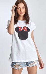 γυναικεία κοντομάνικη μπλούζα με σχέδιο