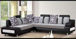 γκρι γωνιακός καναπές
