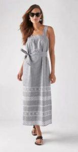 φόρεμα μακρύ γκρι
