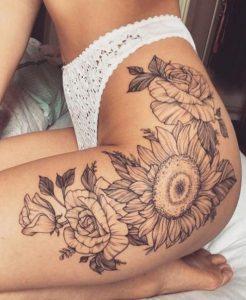 ηλίανθος τατουάζ