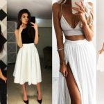 καλοκαιρινά outfits με άσπρη μπλούζα