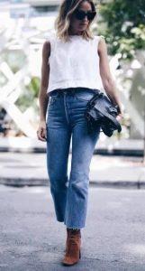 τζιν με άσπρη μπλούζα