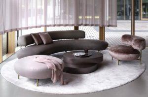 καμπυλωτός καναπές