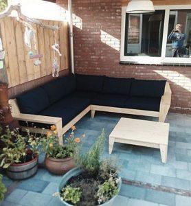 καναπές γωνία αυλή μπαλκόνι