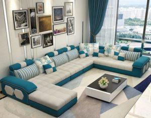 μοντέρνος καναπές μεγάλο σαλόνι