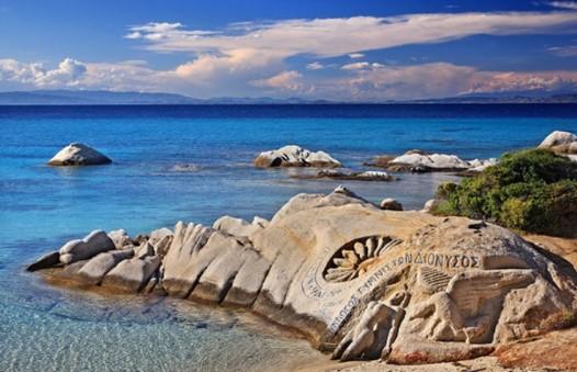 καβουρότρυπες δεύτερο πόδι παραλίες γλυπτά βράχος Χαλκιδική