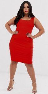 κόκκινο τιραντέ pencil φόρεμα