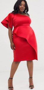 κόκκινο εφαρμοστό βραδινό φόρεμα