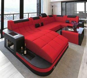 κόκκινος αναπαυτικός καναπές