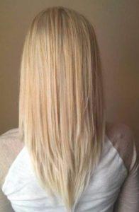 κούρεμα με μύτες σε γυναικεία μαλλιά