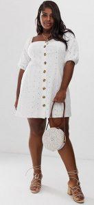 λευκό φόρεμα μεγάλο στήθος