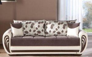 καναπές γήινα χρώματα