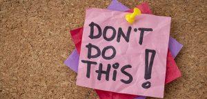 λίστα με τι να μην κάνεις αντιμετωπίσεις αγχωτικές καστάσεις