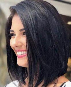 γυναικείο μοντέρνο κούρεμα για μαύρα μαλλιά