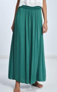 πράσινη μακριά καλοκαιρινή φούστα