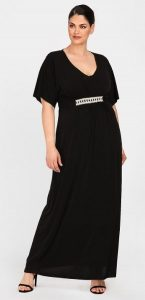 μαύρο maxi φόρεμα βραδινές εμφανίσεις