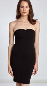μαύρο γυναικείο στράπλες φόρεμα