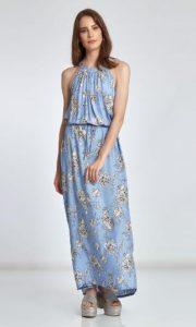 maxi φόρεμα με φλοράλ μοτίβο