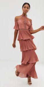 maxi γυναικείο φόρεμα με βολάν