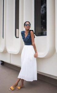 μακριά άσπρη φούστα