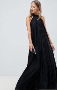 maxi μαύρο φόρεμα
