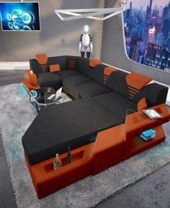 μεγάλος καναπές led φώτα