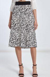 animal print midi γυναικεία φούστα