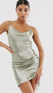 μεταλλικό μίνι φόρεμα αμάνικο