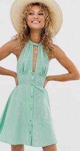 μίνι γυναικείο φόρεμα με κουμπιά στο μπροστινό μέρος