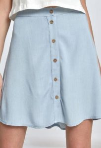 κοντή φούστα με κουμπιά στη μέση