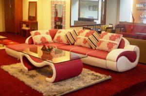 μοντέρνο σαλόνι εντυπωσιακός καναπές γωνία