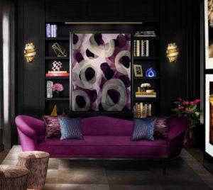 μωβ καναπές νεανικό σπίτι