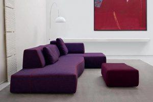 μωβ καναπές κρεβάτι