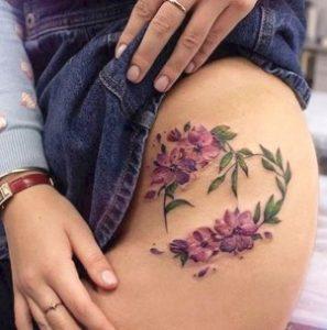 μοβ λουλούδια