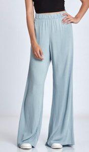 μπλε γυναικεία παντελόνα με λάστιχο στη μέση